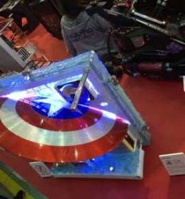 Computex Trade Show 2016 Captain America