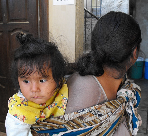 Photo of a Bolivian mother and her child