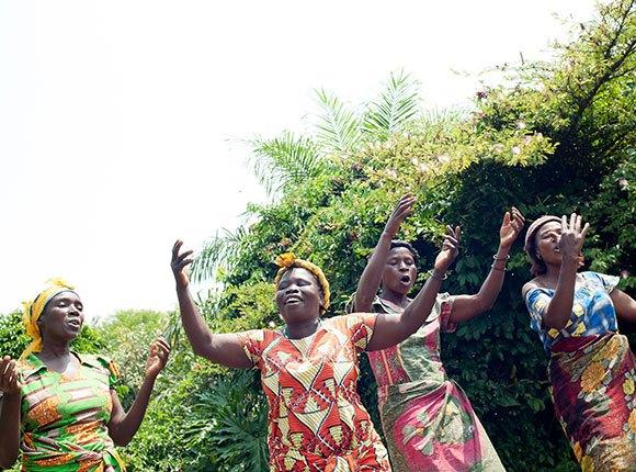 Photo of Congolese women dancing