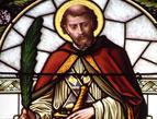 saint valentine stained glass