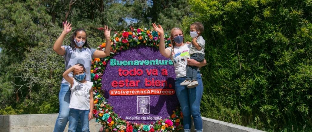 Silletas con mensaje de solidaridad para el Valle del Cauca