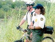 Agents on bike patrol