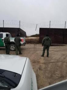 Smugglers cut the old border wall to facilitate an alien smuggling attempt.