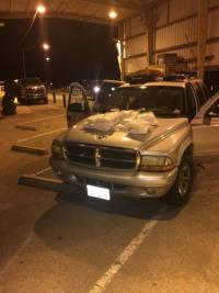 Agents seized 46.81 pounds of methamphetamine