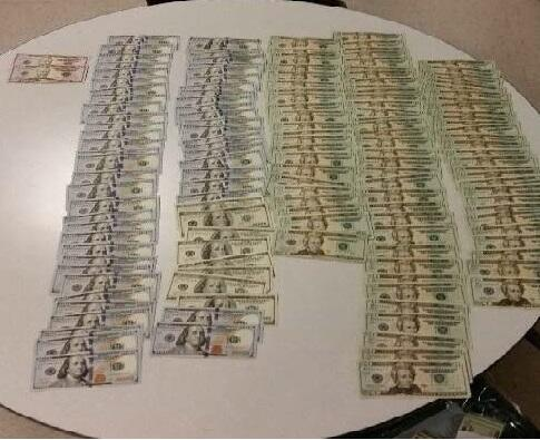 Customs currency seizure results in $10,000 cash seized.