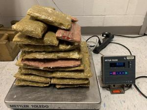 Packages containing 29 pounds of methamphetamine seized by CBP officers at Eagle Pass Port of Entry