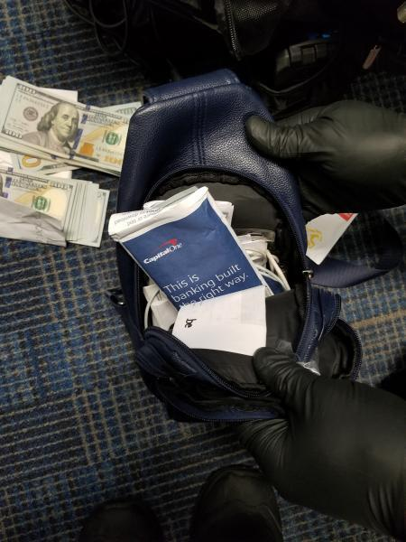 U.S. Customs and Border Protection officers at Washington Dulles International Airport seized $46,628 in unreported currency from a U.S. citizen traveling to Cameroon on September 27, 2021.