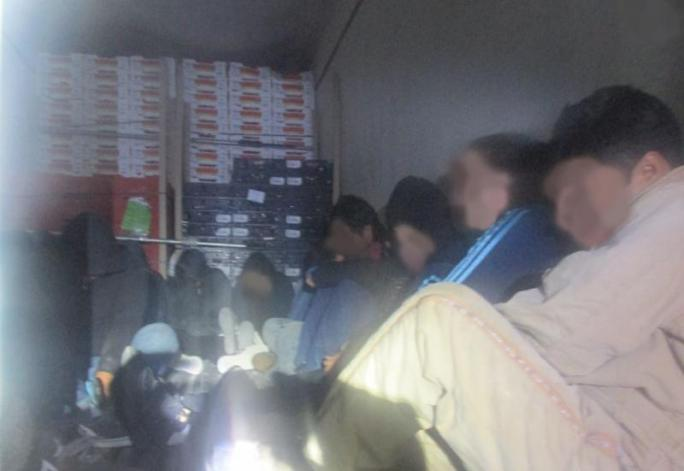 Immigrants rescued from refrigerator trailer