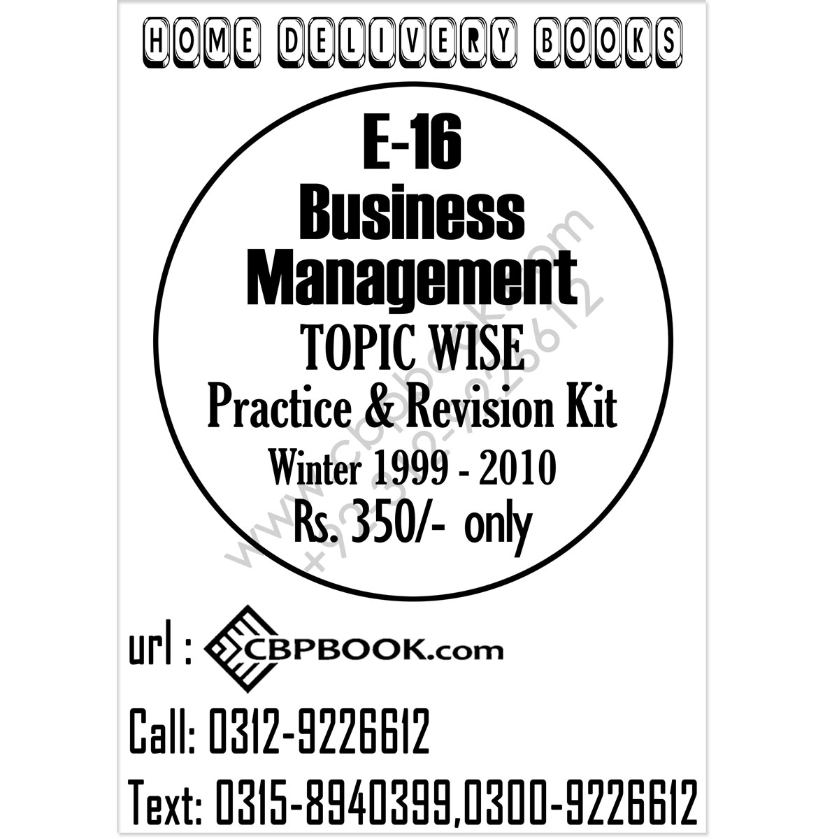 CA E 16 Business Management Topic Wise Practice and
