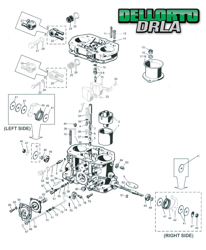 Dellorto DRLA Parts Locator