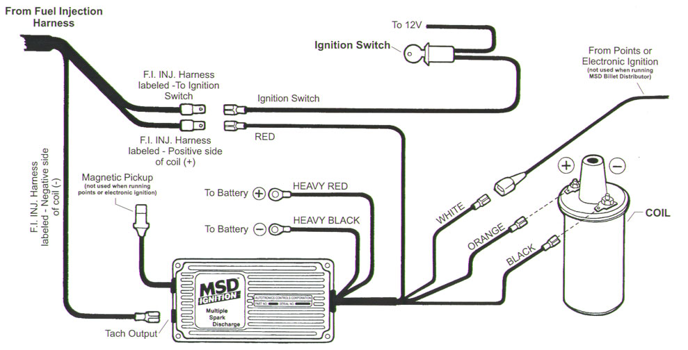 msd 6al wiring diagram rs 232 to 485 converter circuit cb performance - ultra competition fuel injection special installation guide