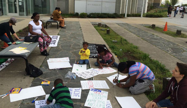 Families protest conditions at Durham jail (Image 1)_29233