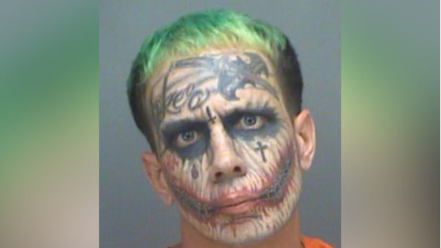 Florida man with 'Joker' tattoos arrested on concealed-carry offense