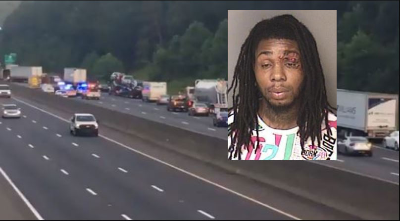 NC DWI driver crashes stolen car on I-85, attacks nearby woman