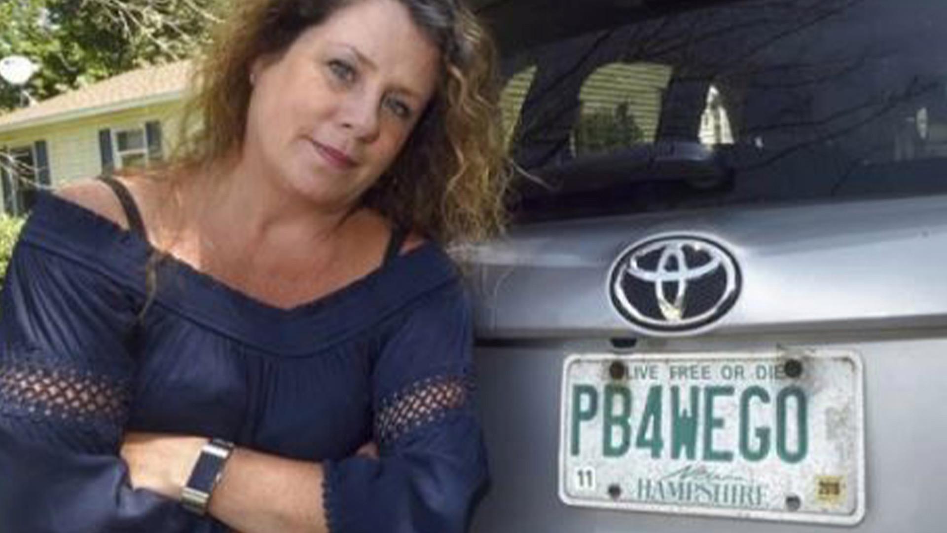 New Hampshire mom wins battle over 'PB4WEGO' vanity plate