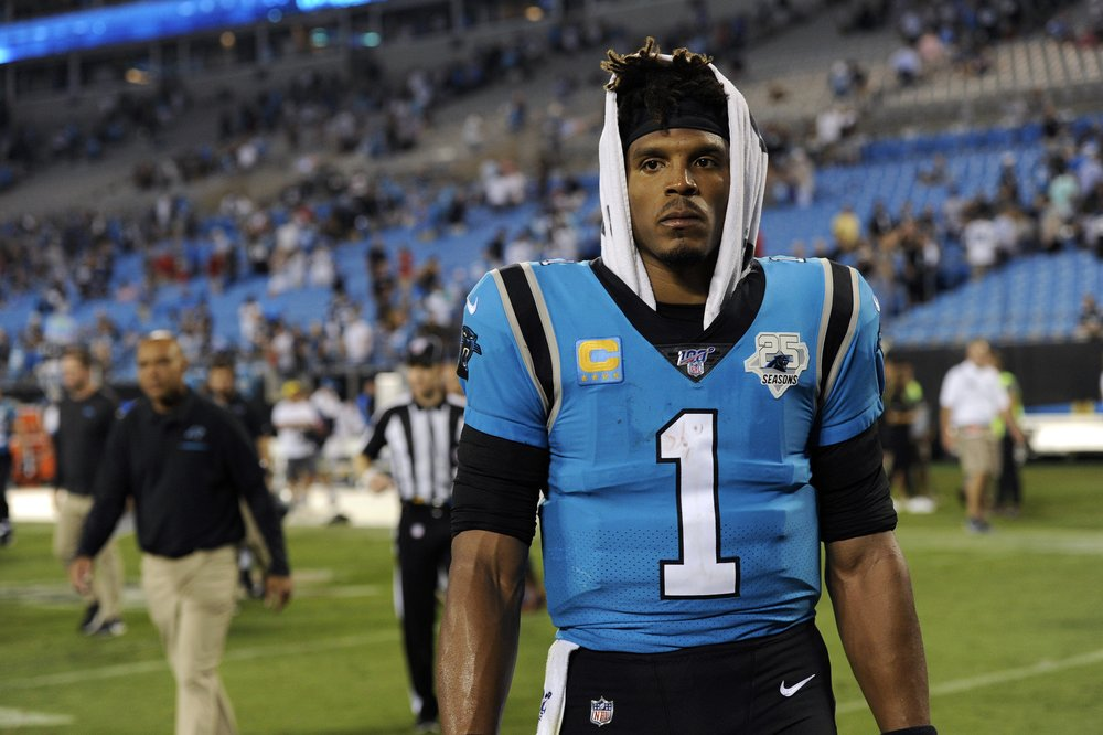 quality design ebb05 97d93 Panthers rule quarterback Cam Newton out for Sunday   CBS 17