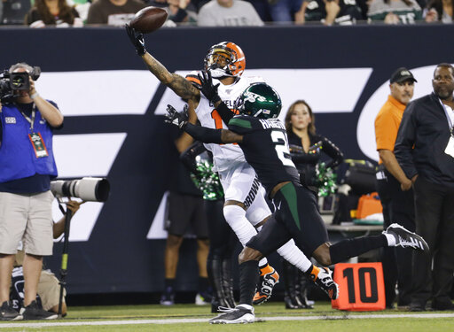 Beckham Puts On Show In Metlife Return Browns Top Jets 23 3