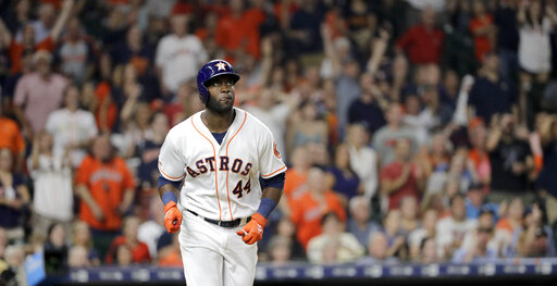LEADING OFF: Astros romp, Trout out, Hoerner in, Cueto back