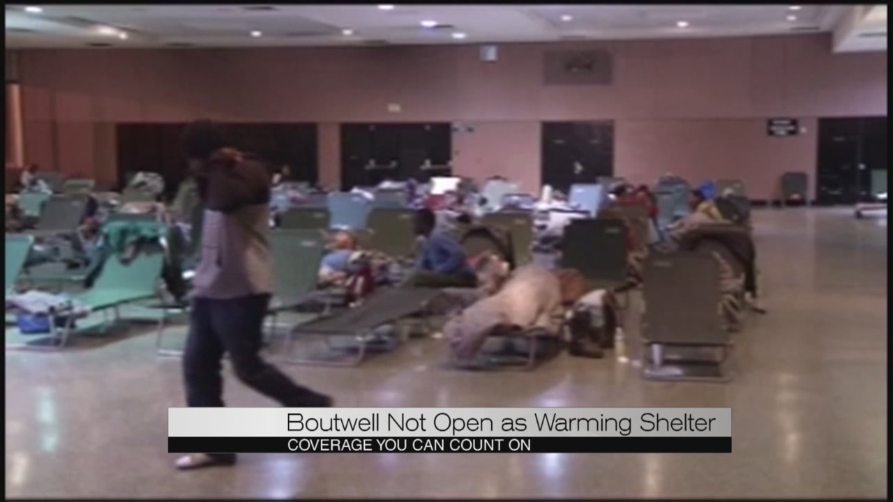 Boutwell not open as warming station