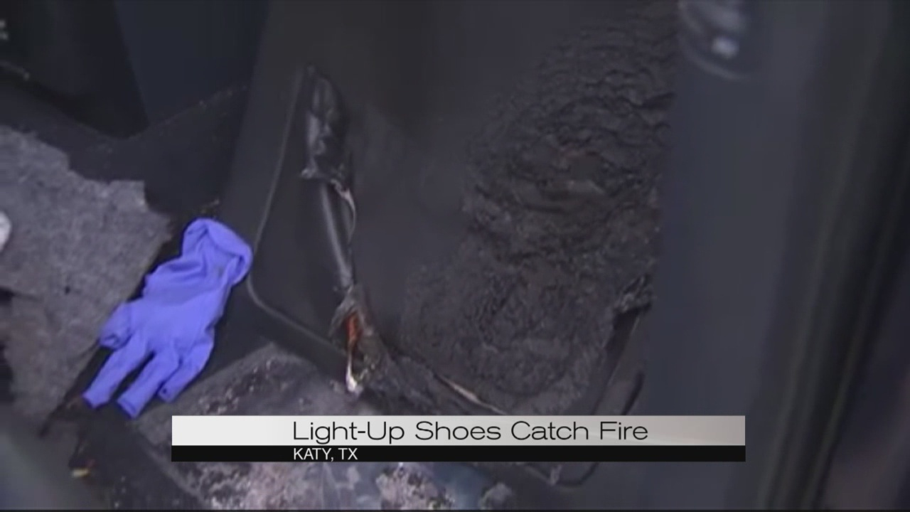 Light-Up Shoes Catch Fire