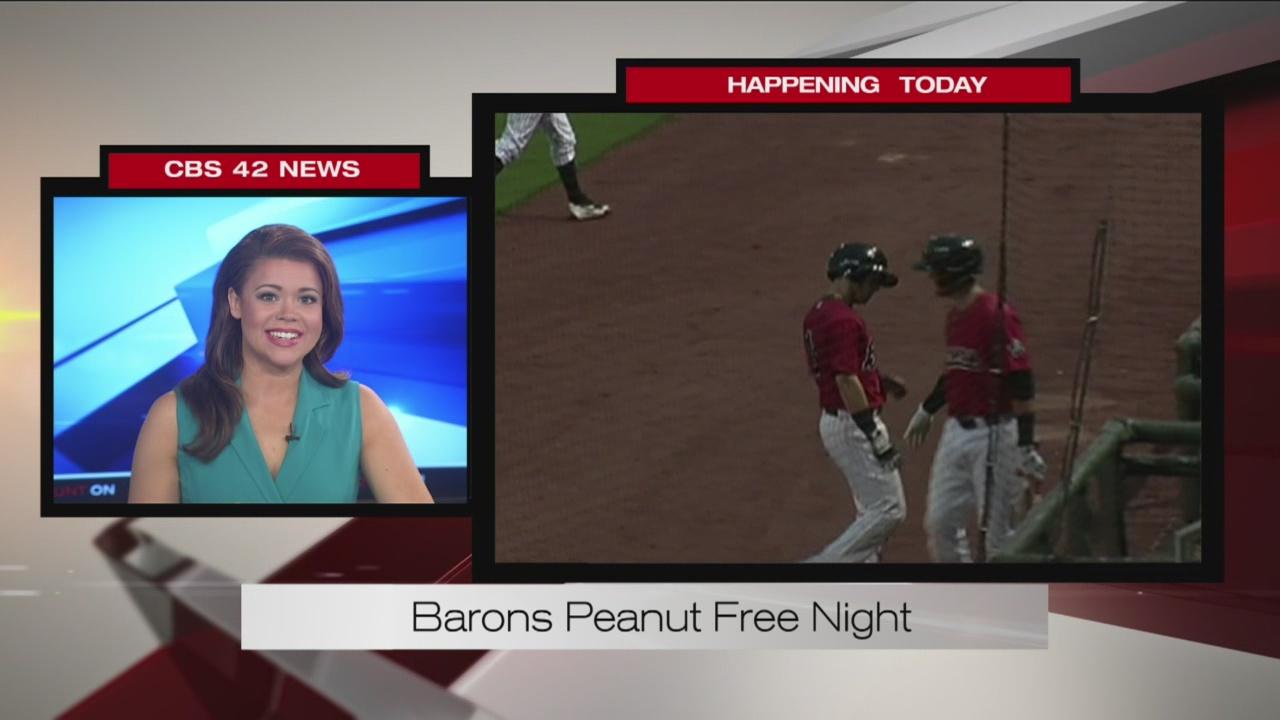 Barons peanut free night