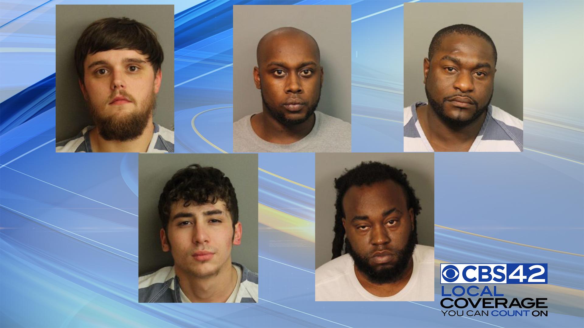 Jefferson County Sheriff's Office arrests five men on