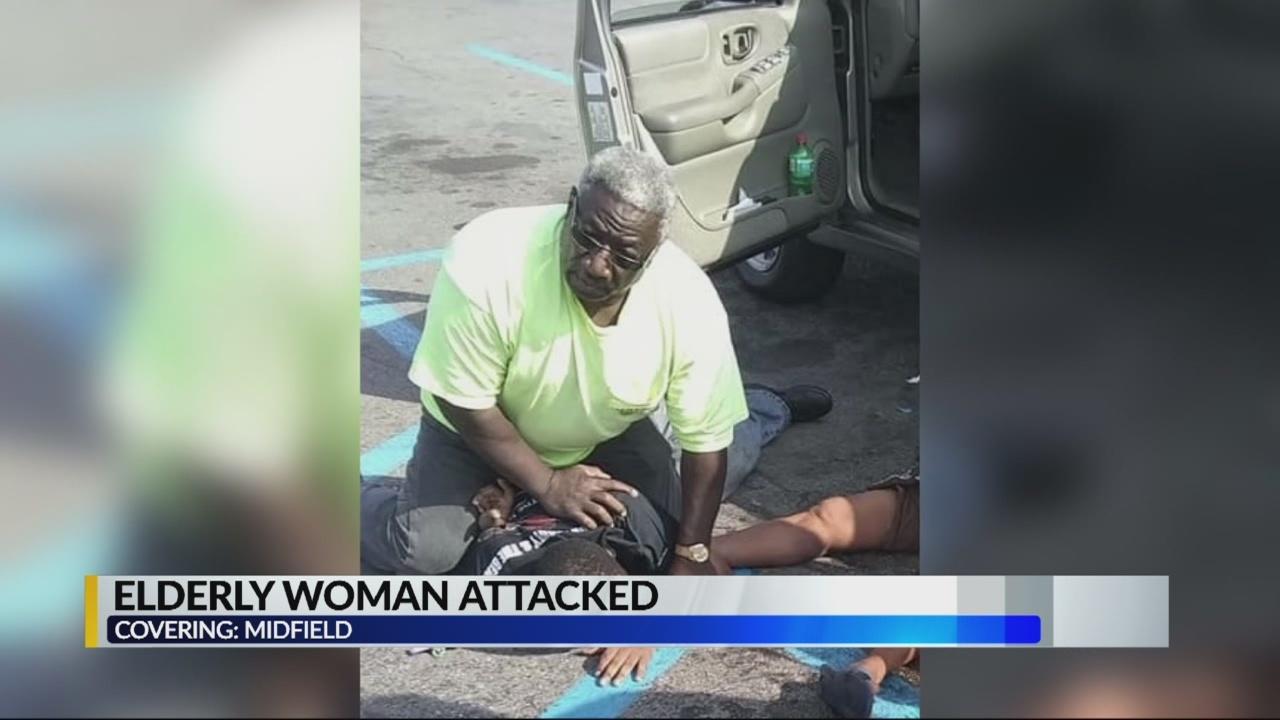 elderly woman attacked in midfield