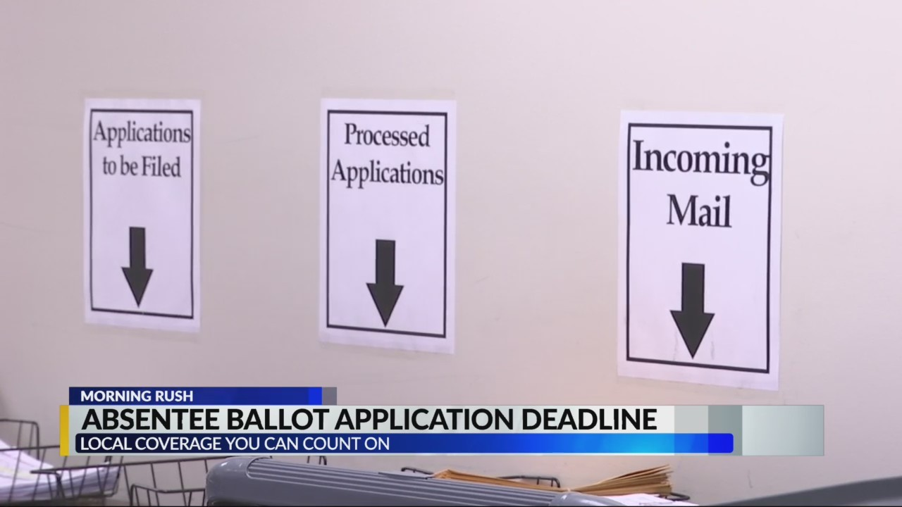 Absentee Ballot Deadline TODAY