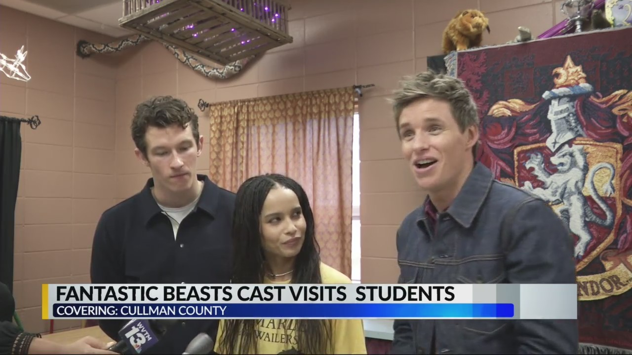 'Fantastic Beasts' cast visits school in Cullman County