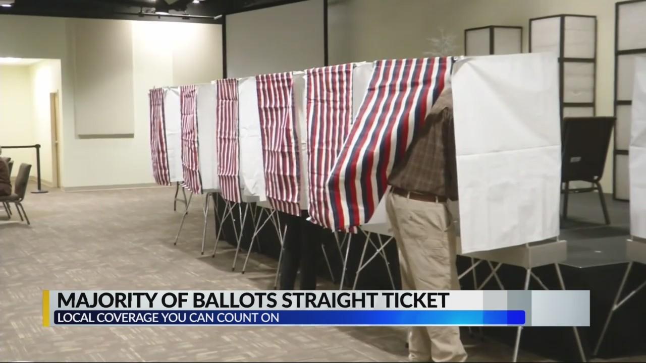 Majority of ballots straight ticket