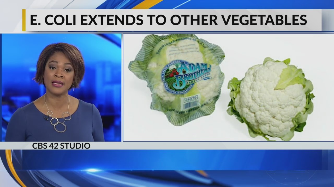 E. Coli extends to other vegetables