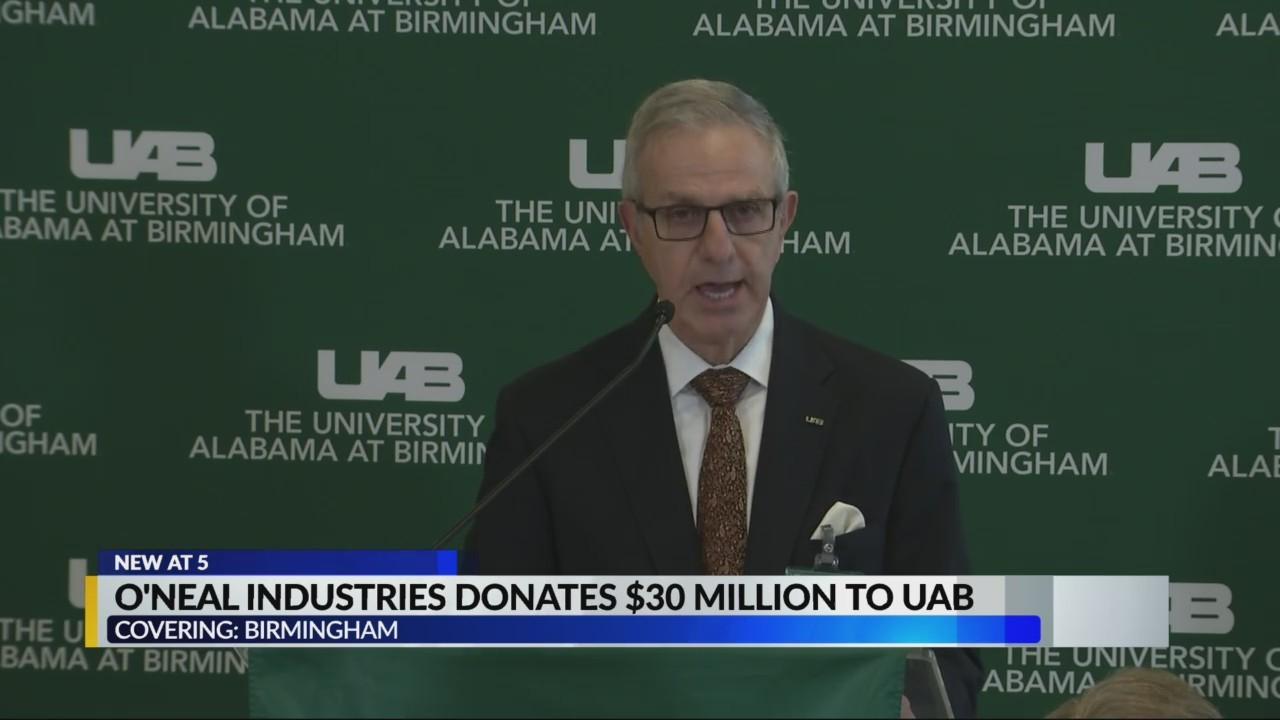 O'Neal industries donates $30 million to UAB
