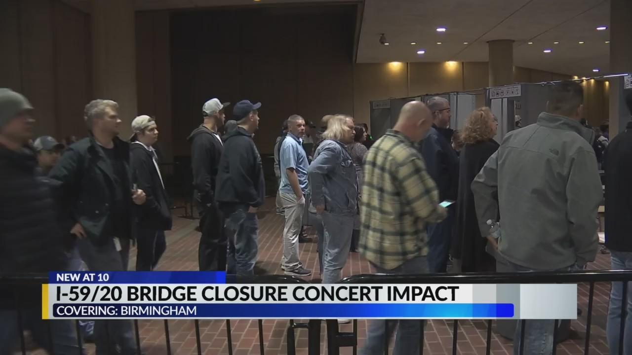 BJCC Concert impact from 59/20 bridge closure