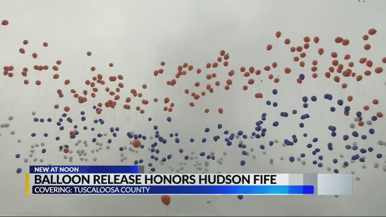 Balloon Release for Hudson Fife