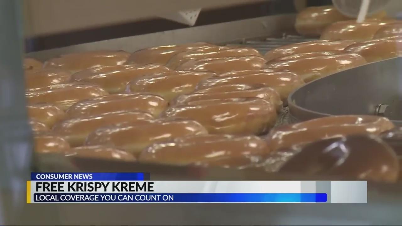 Krispey Kreme gives away free dozens