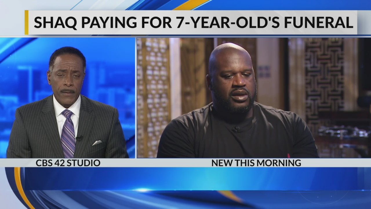 Shaq paying for 7-year-old's funeral