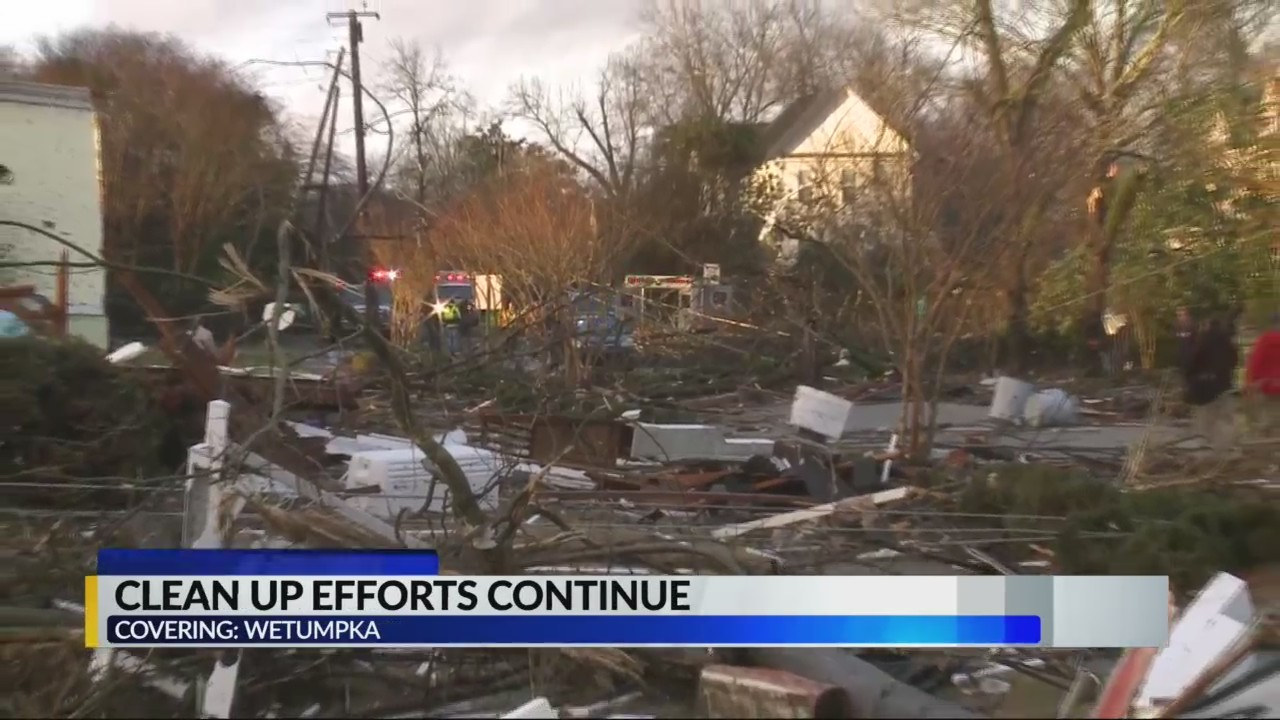 Wetumpka residents continue to pick up pieces from tornado damage