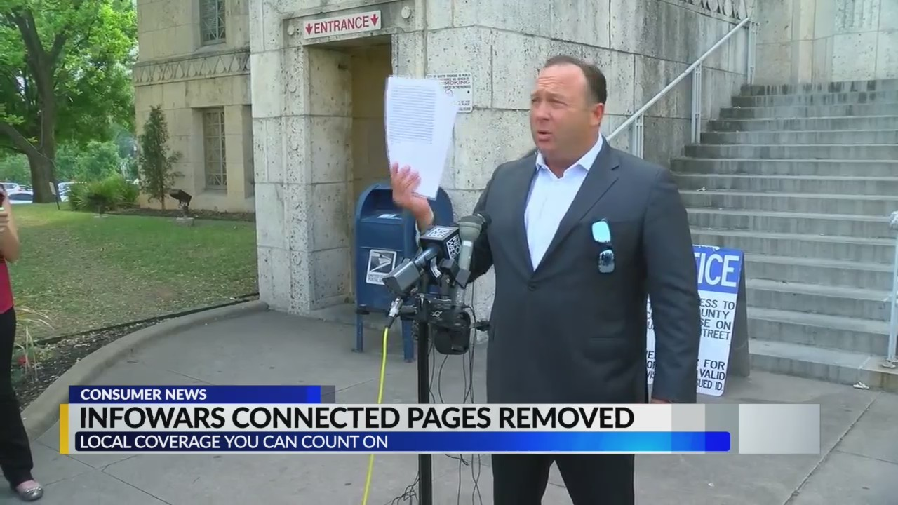Infowars removed from Facebook