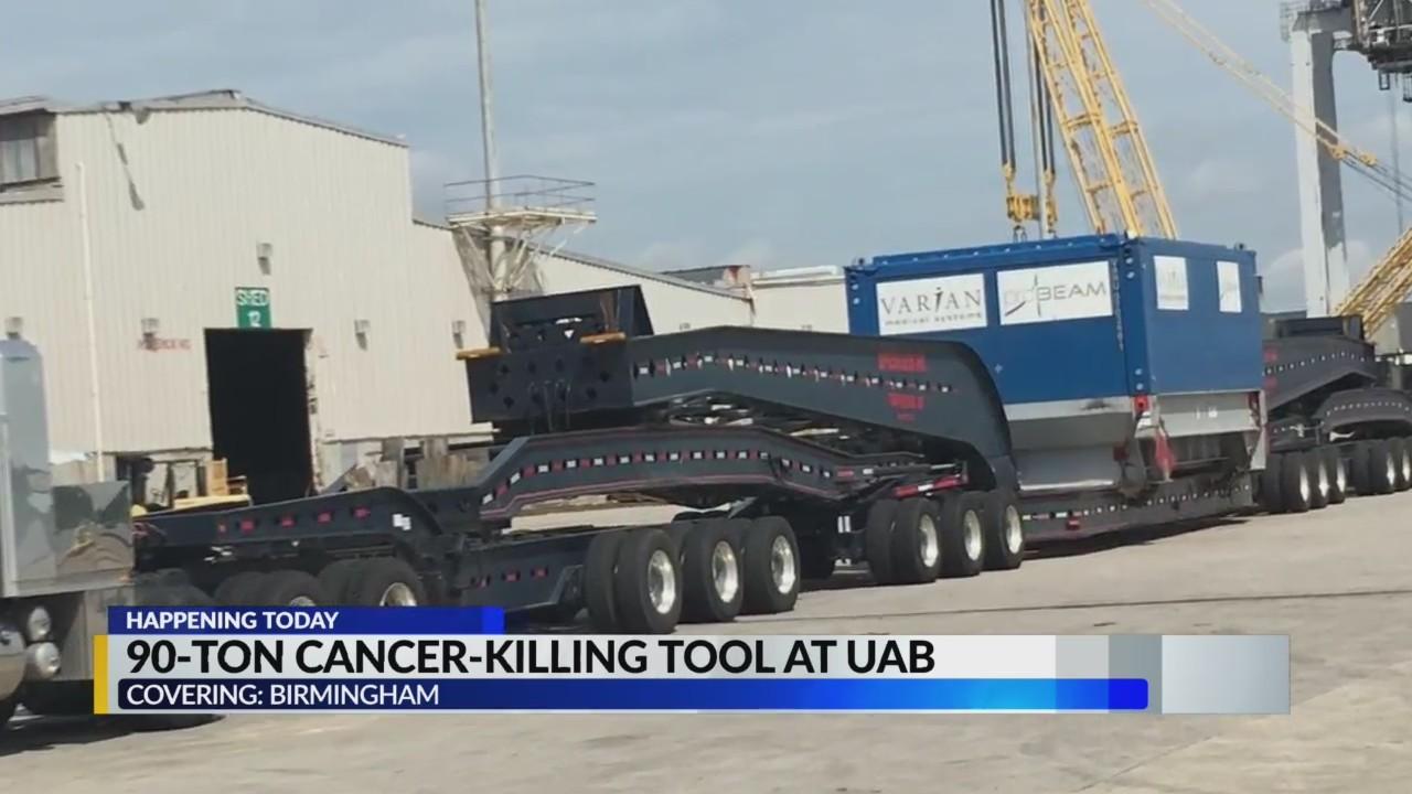 Emma, 90-ton cancer-killing tool, installation set for Monday