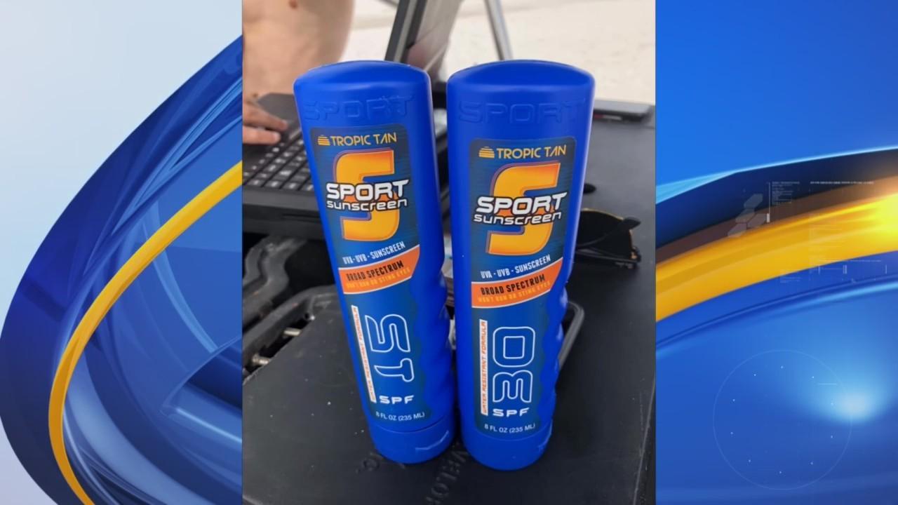 Warning on hiding alcohol in sunscreen bottles