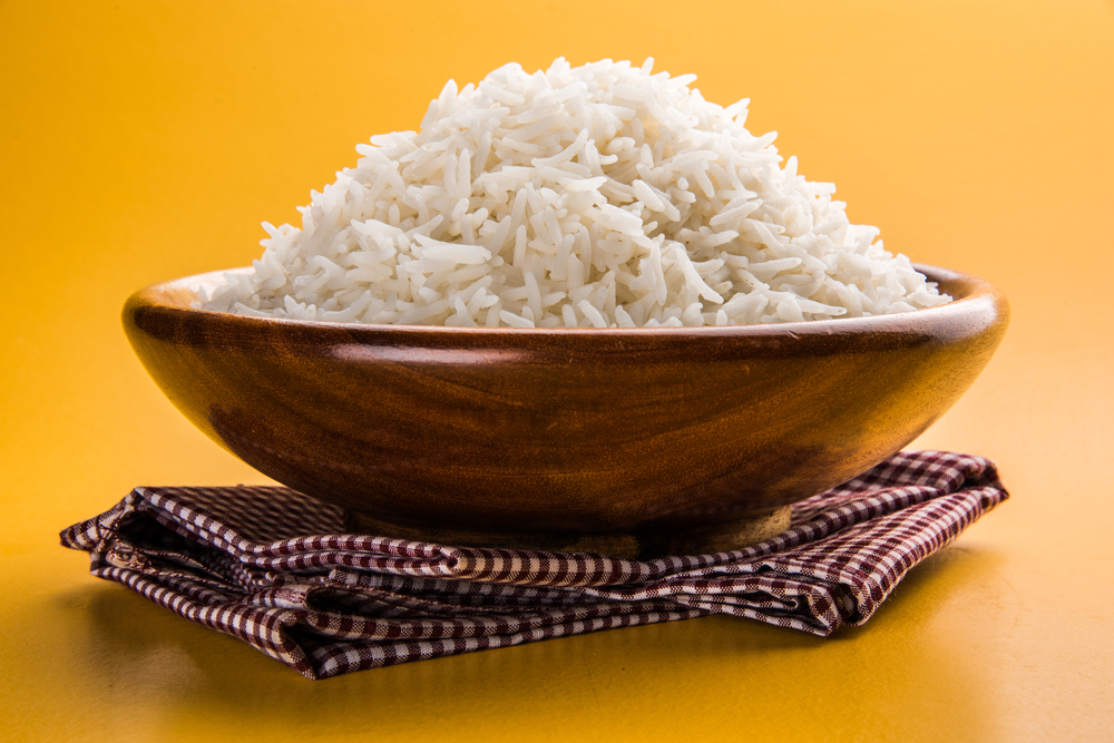Cooked rice_stock