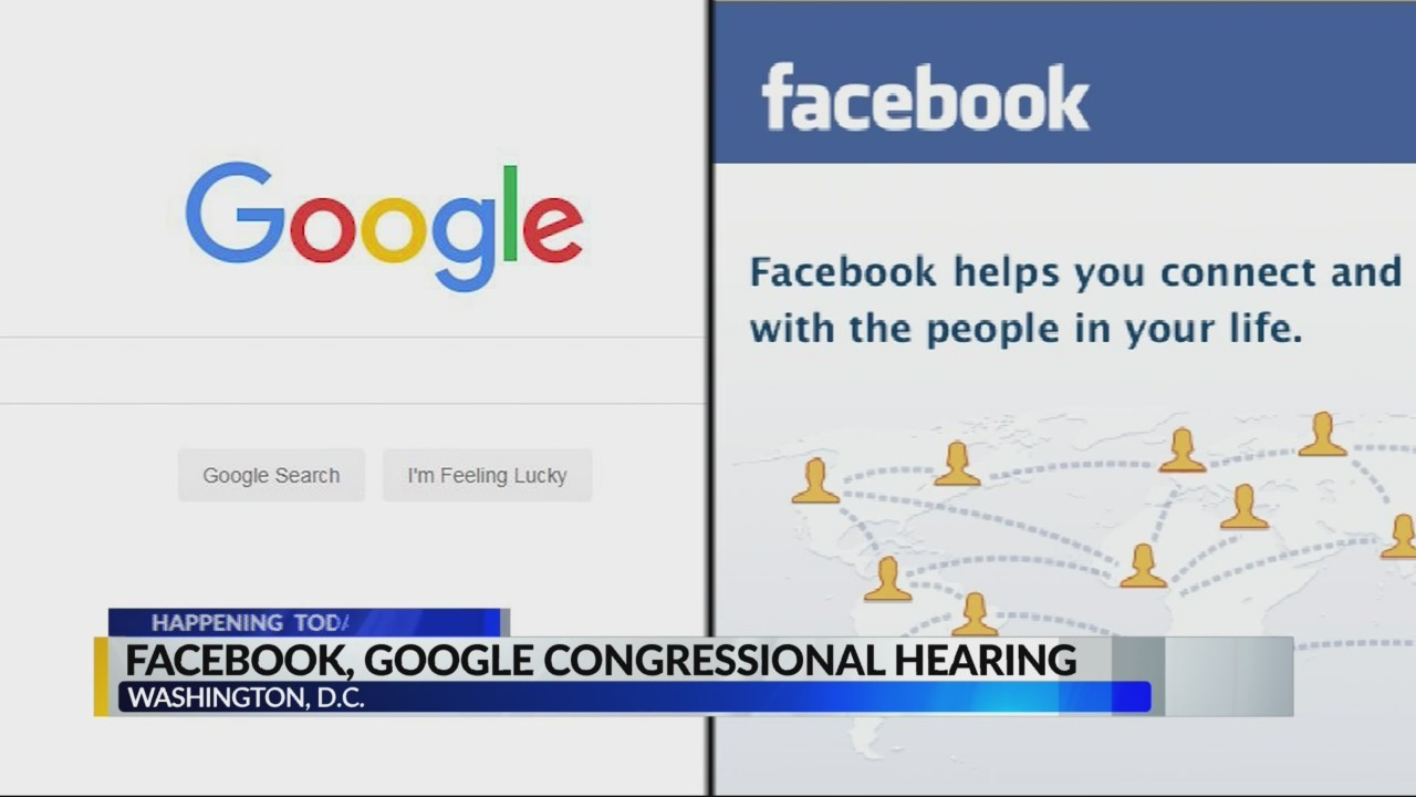 Facebook and Google congressional hearing