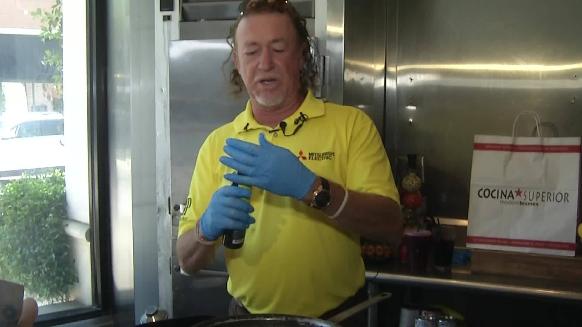 Pro Golfer Miguel Angel Jimenez Shows Off His Cooking Skills
