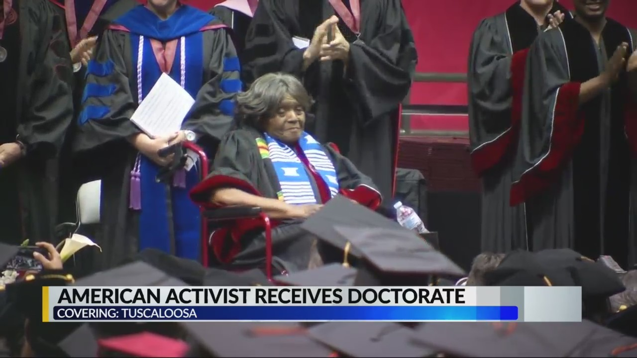 Autherine Lucy Foster receives honorary doctorate