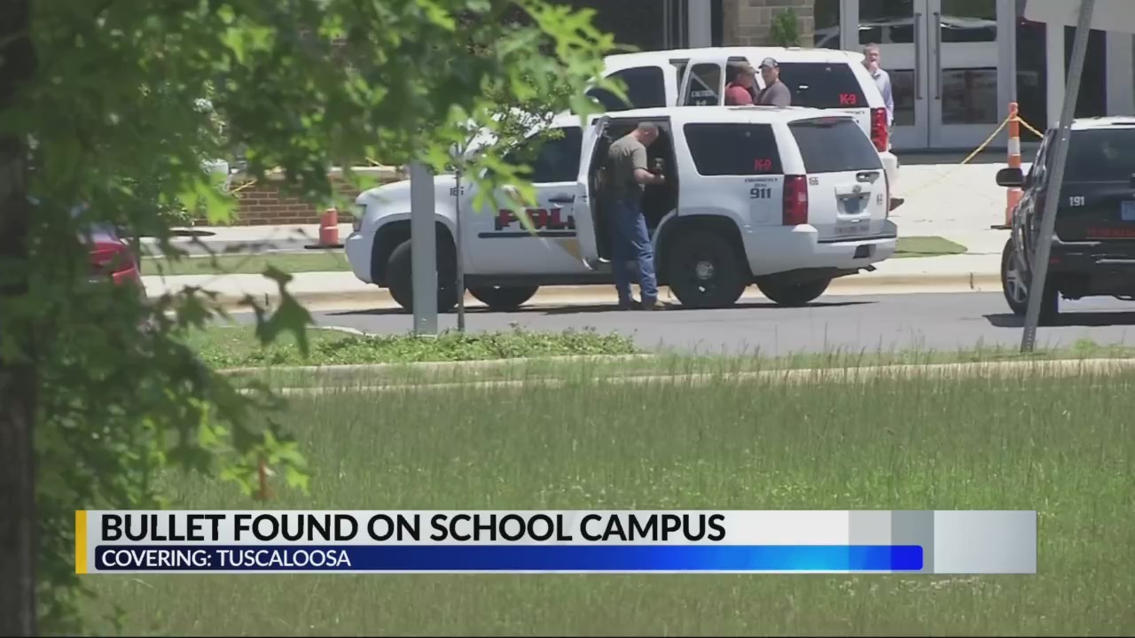 Tuscaloosa police find bullet on a school campus