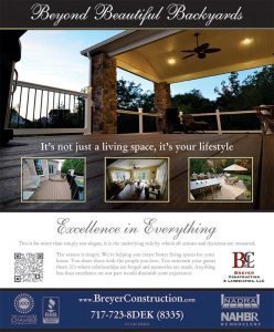 Display ad for upscale community magazine