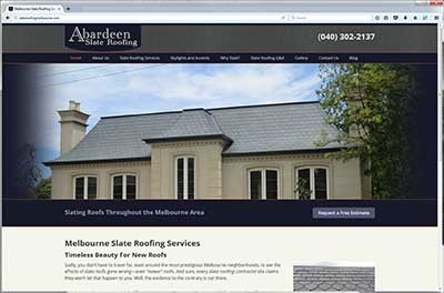Screen shot of Abardeen Roof Slating and Tiling site