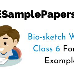 Bio-sketch for Class 6 CBSE Format [ 720 x 1280 Pixel ]