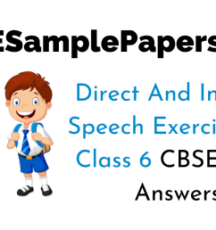 Direct and Indirect Speech Exercises for Class 6 with Answers CBSE [ 720 x 1280 Pixel ]