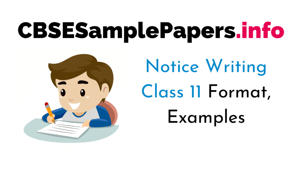 medium resolution of Notice Writing Class 11 Format